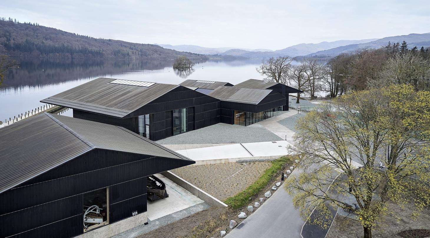 hero from above of the Windermere Jetty Museum by Carmody Groarke