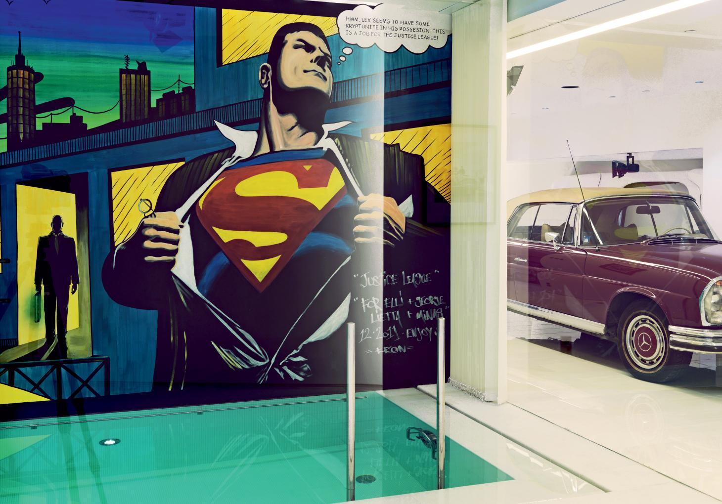 Superman mural by Kron Designs