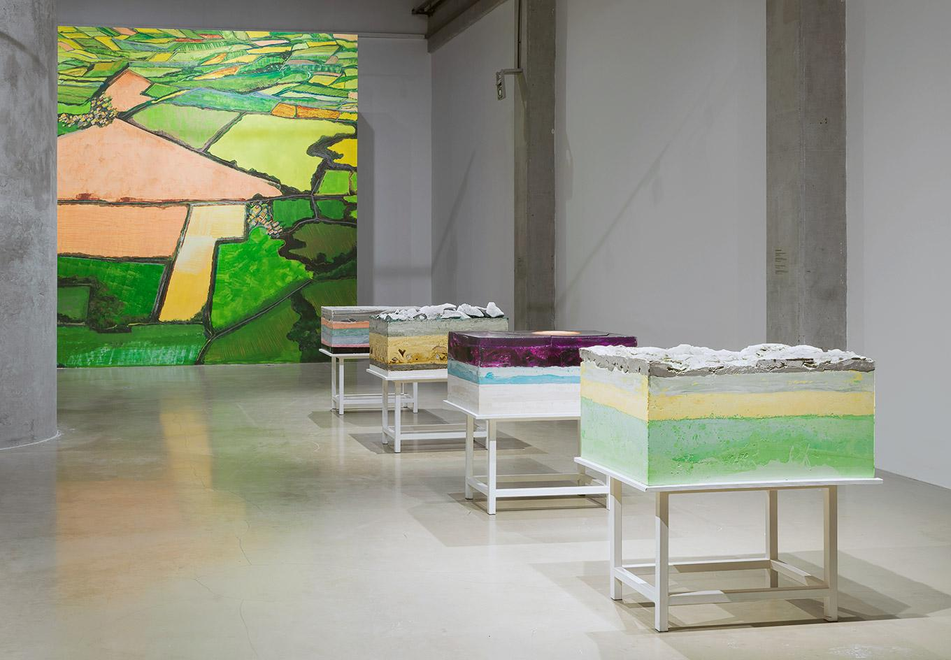 Installation view of 'Non-Imagined Perspectives' by Aida Mahmudova at Yarat Contemporary Art Centre, Baku