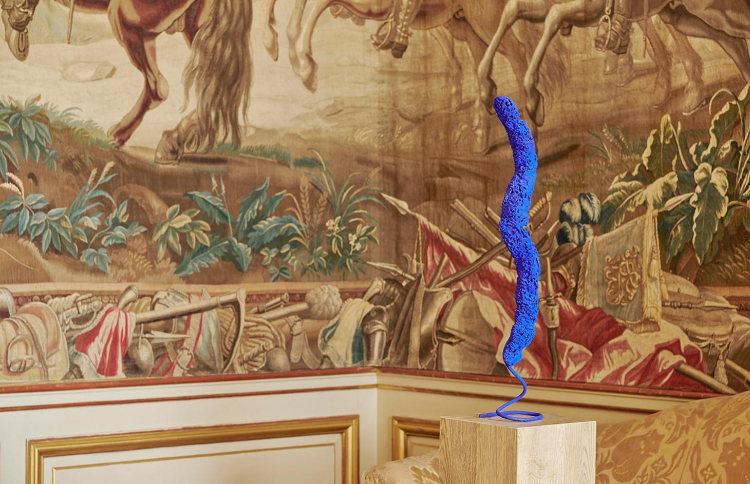 Sponge sculpture, by Yves Klein, installation view at Blenheim Palace