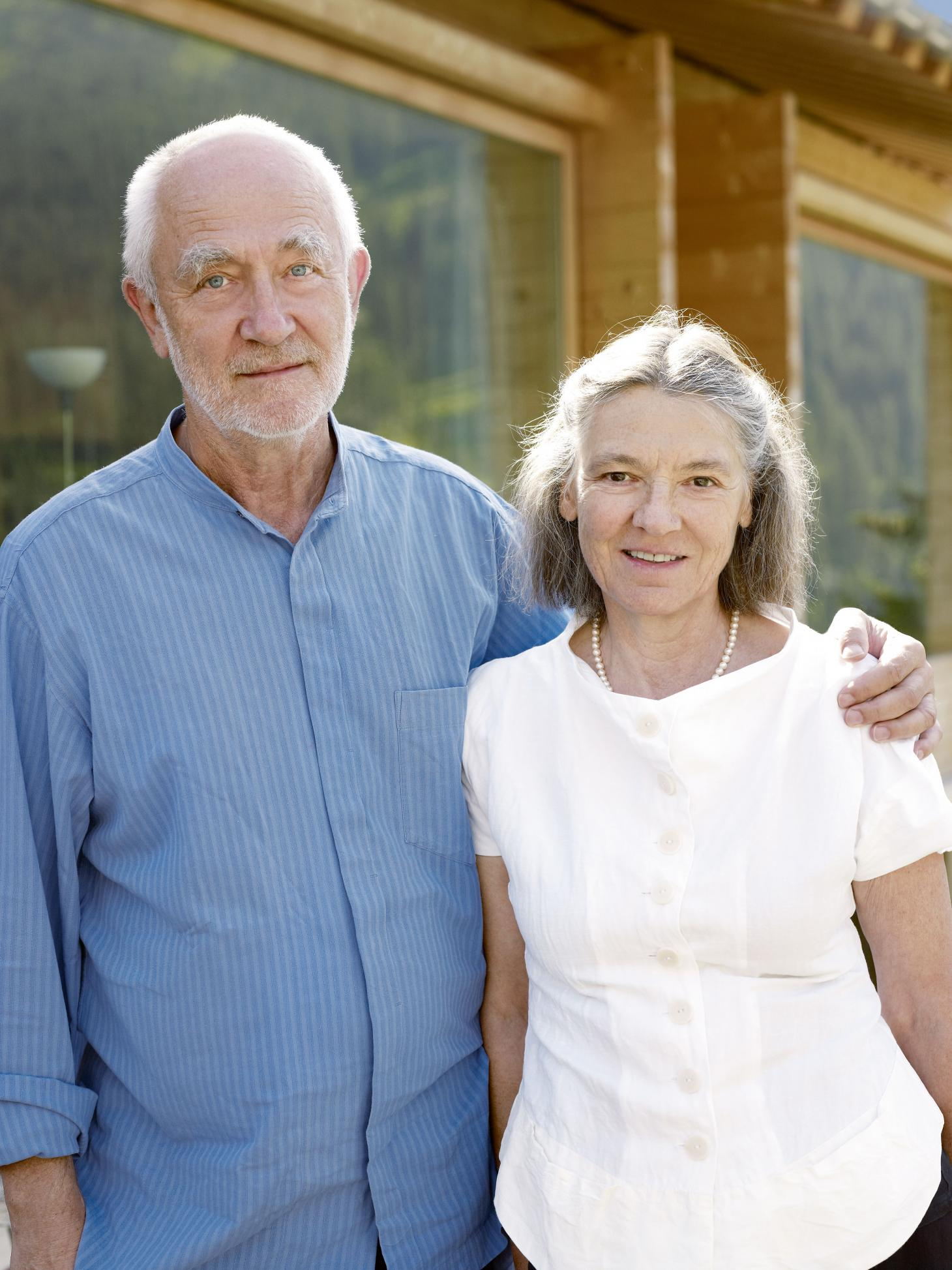 Portrait of Peter Zumthor and Annalisa Zumthor