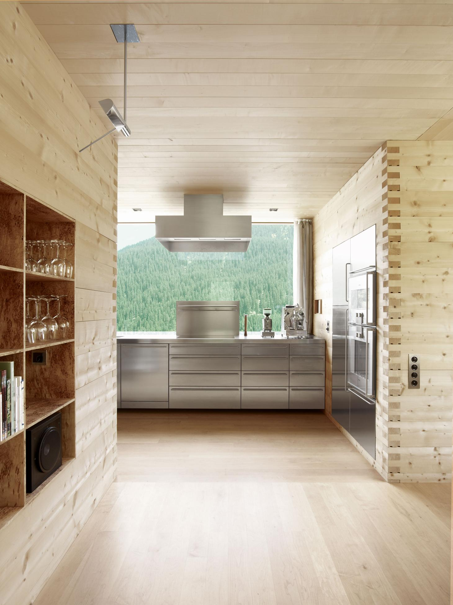Bespoke cabinetry in Peter Zumthor's kitchen