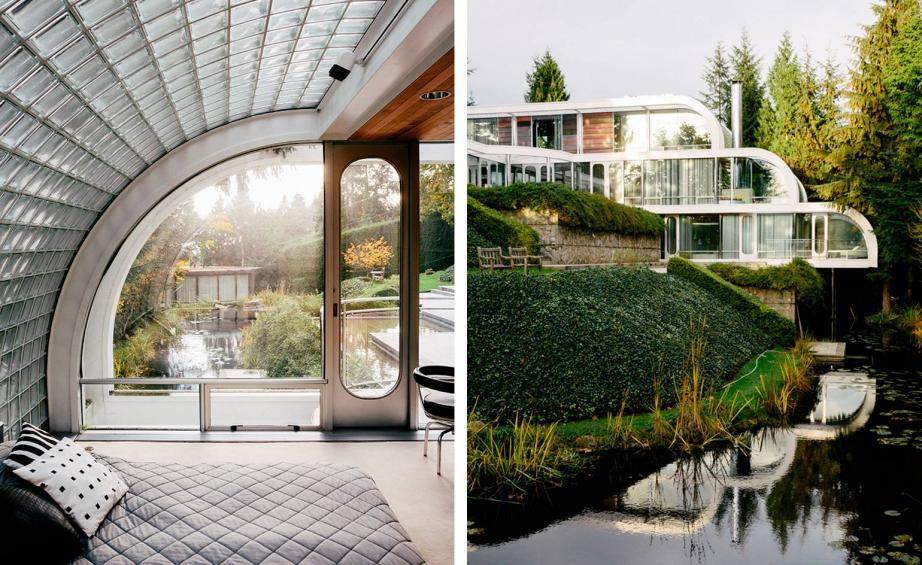 The house in West Vancouver  has three levels set at right angles to the  slope of the site  Living spaces are on the middle level with bedrooms  above and. Eppich House  Arthur Erickson s modernist treasure   Wallpaper