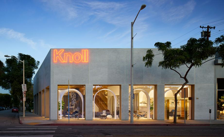 Knoll Gives La A Stamp Of Approval With Its New Store Wallpaper
