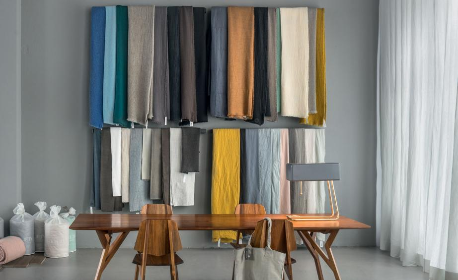 Andreas Murkudis New Store In Berlins Tiergarten Neighbourhood Is Dedicated To Design And Furniture Pictured Are Linen Blankets By Society Limonta