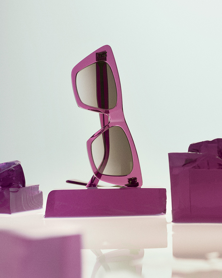 Colourful sunglasses in magenta by Celine