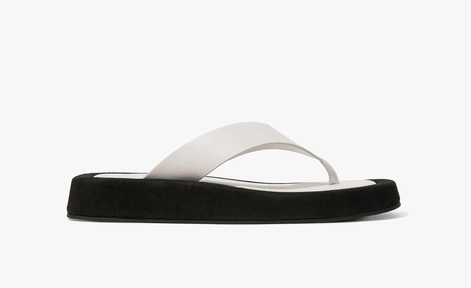 Summer sandals in white flip flop style by The Row