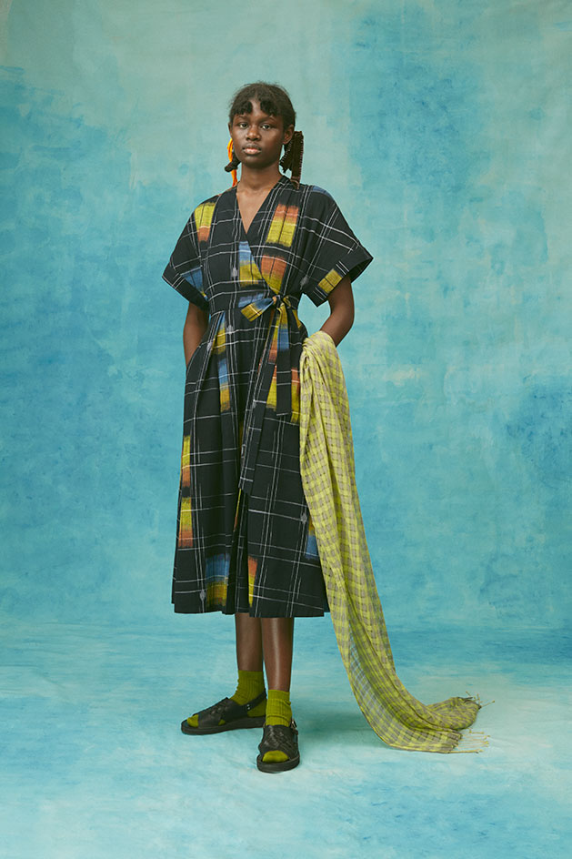sustainable fashion made to order Ikat dress by Toast