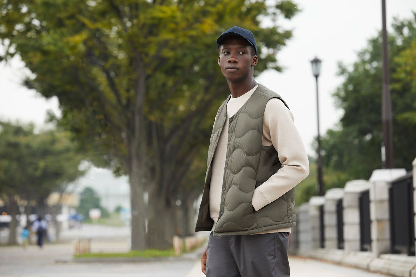 Uniqlo Lifewear gilet and trousers