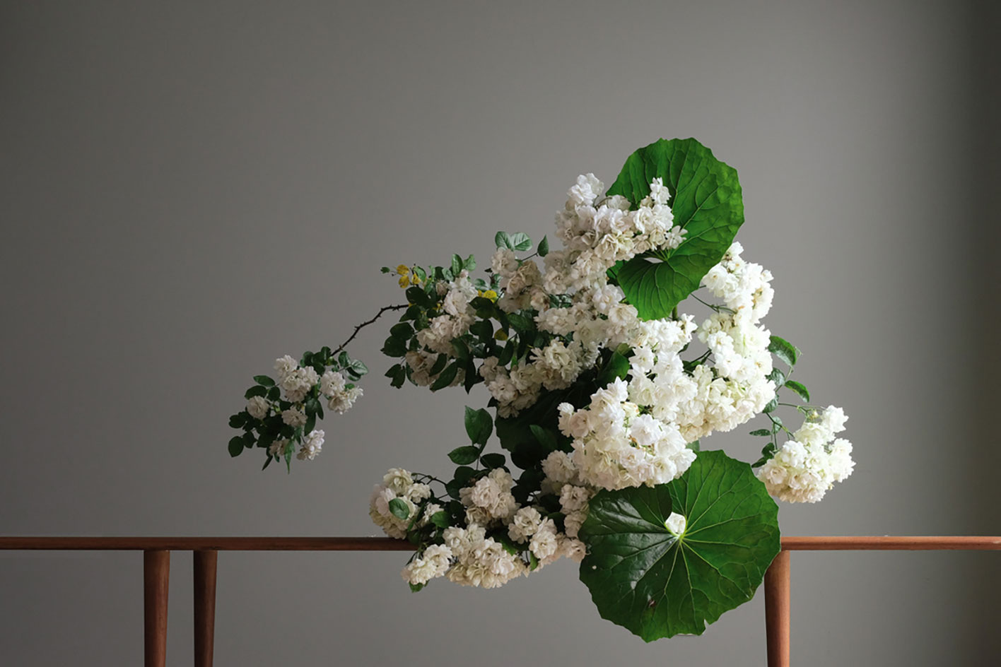 Installation by floral artist Wagner for Matchesfashion.com