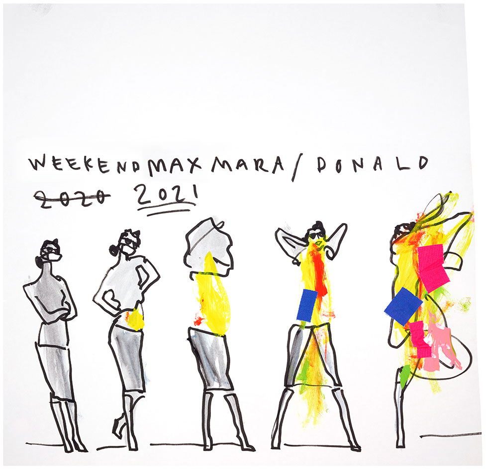 Donald Robertson sketches for Weekend Max Mara