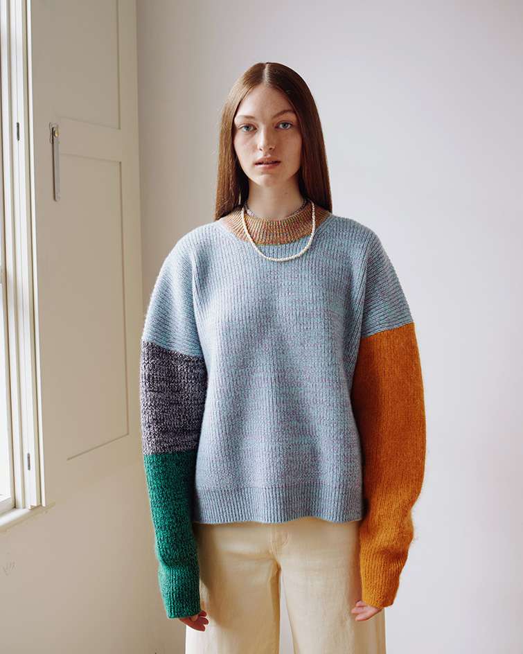 """""""colourful knitted jumper by Waste Yarn Project"""""""