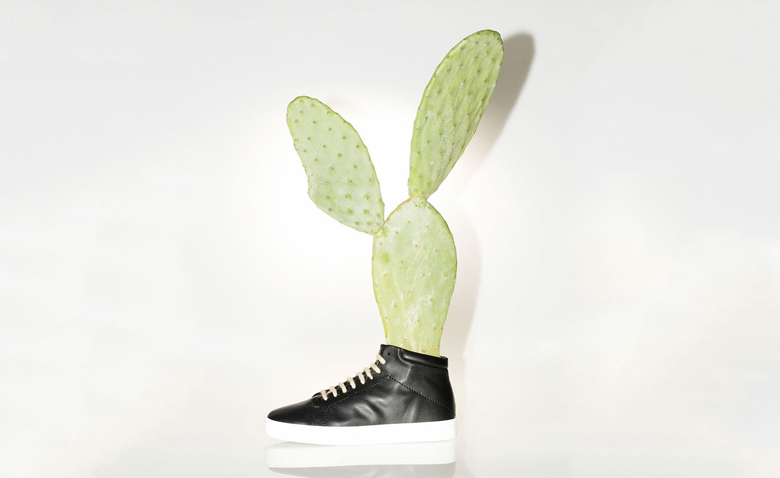 Yatay high top black sneaker