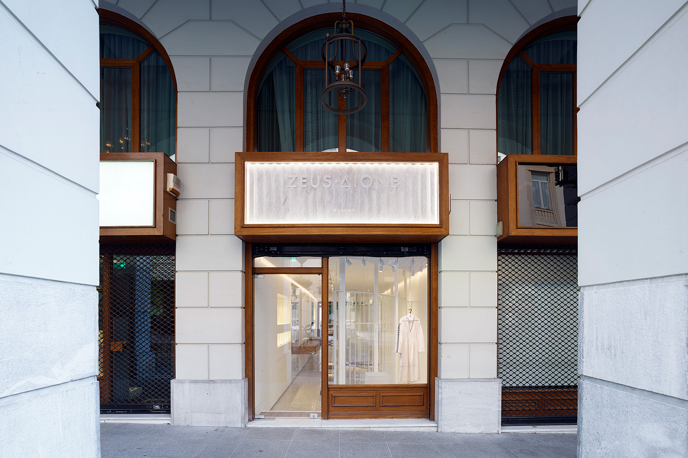 Zeus + Dione store front Athens