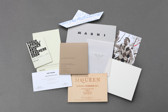 Milan and Paris Fashion week S/S 2012 invitations: Menswear