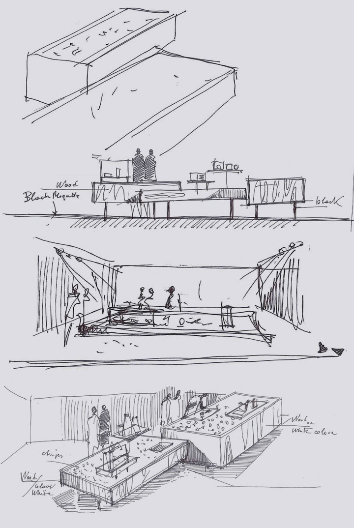 Exhibition Stand Drawing : Wallpaper magazine