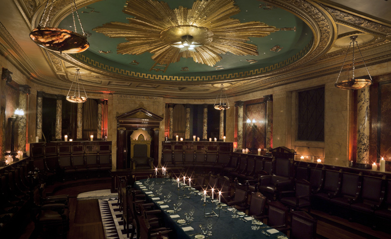 The Masonic Temple Was Discovered When Hyatt Were Renovating Hotel Space Can Be Hired For Private Dining And Hosts Andazs Famous Candlelit Dinners