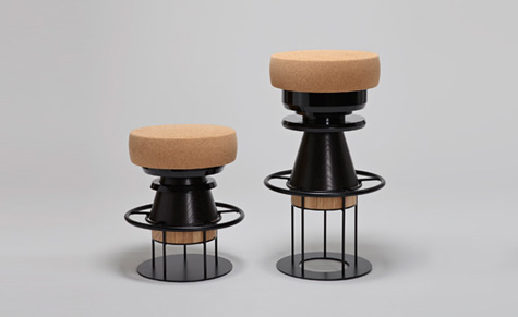 'Bolt' stools by Note Design Studio for Salone newcomer, La Chance