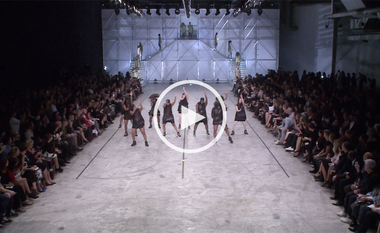 Video: Rick Owens' stomping S/S 2014 fashion show