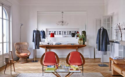 Arthur Arbesser debuts his A/W 2014 collection in architect Luca Cipelletti's Milan apartment