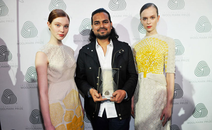 Rahul Mishra wins the 2014 International Woolmark Prize