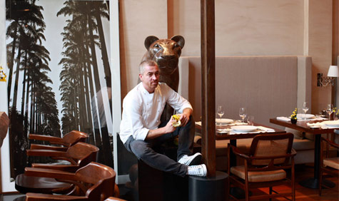 Chef Alex Atala in his restaurant D.O.M. Photograph by Cristiano Madureira.
