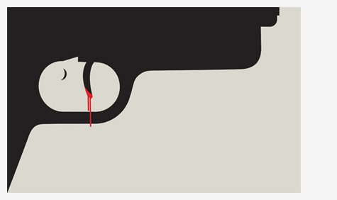 'Gun Crime' by Noma Bar
