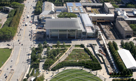 The Art Institute of Chicago, Aerial View Looking South - Andrew Campbell Photography