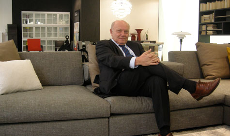 Carlo Molteni, the brand's President, at home in his new London flagship