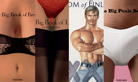 A selection of Taschen's recent Erotic Literature