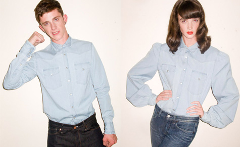 The 'Sammy Jo' and 'Krystle' shirts from the new Acne transexual collection
