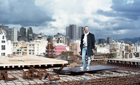 Architect Youssef Tohme surveys his city. Photograph by Daniel Stier