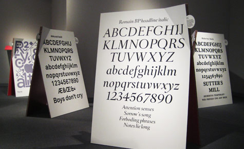 The exhibition shows off the wide palette of type design emerging from Switzerland today