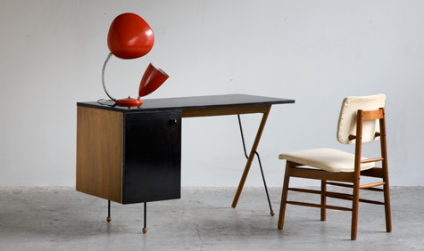 1950s furniture designed by Greta Magnusson Grossman. Photograph by Sherry Griffin/R 20th Century