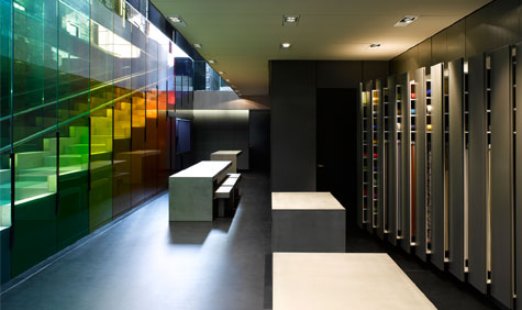 The brand new Kvadrat showroom in London, designed by Peter Saville and David Adjaye