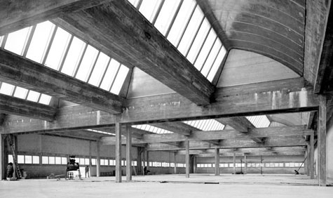 Shed roof of printing house Mame, Tours, 1950