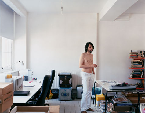 Peter Saville photographed for W*71 by Nigel Shafran